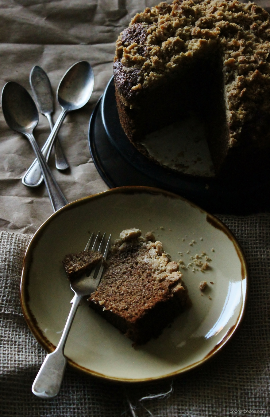 Yeasted Pumpkin Spice Coffee Cake