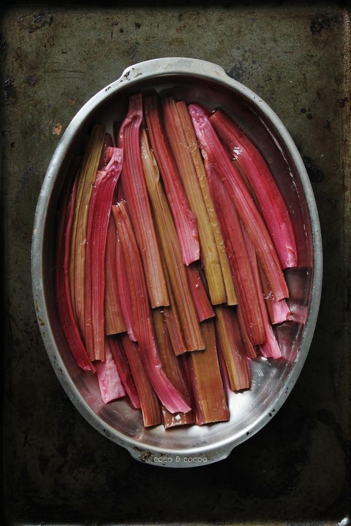 Cranberry Braised Rhubarb