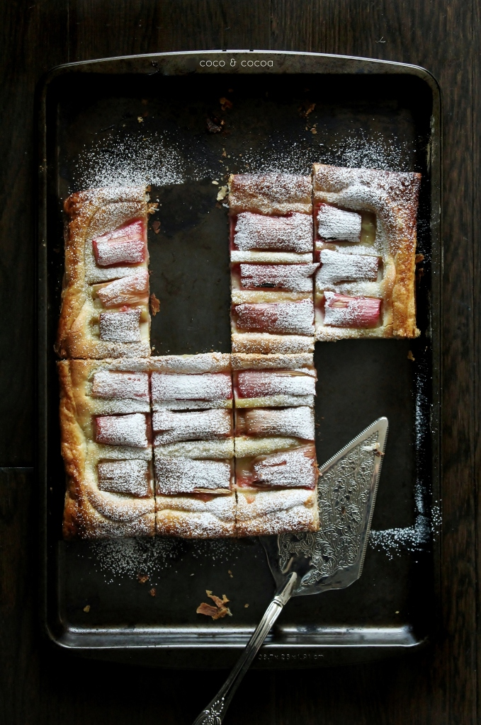 Rhubarb Almond Cream Tart